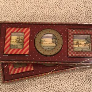 McKenzie- Childs picture frames set of three.